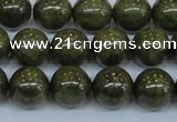 CPY754 15.5 inches 12mm round pyrite gemstone beads wholesale