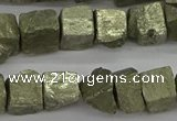 CPY808 15.5 inches 8*10mm - 10*12mm nuggets pyrite beads