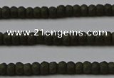 CPY810 15.5 inches 2*3mm faceted rondelle matte pyrite beads