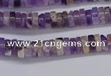CRB1005 15.5 inches 2*4mm heishi dogtooth amethyst beads wholesale