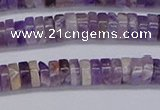 CRB1006 15.5 inches 2*5mm heishi dogtooth amethyst beads wholesale