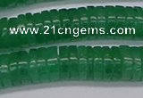 CRB1033 15.5 inches 2*7mm heishi green aventurine beads wholesale