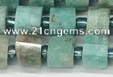 CRB1069 15.5 inches 5*8mm - 6*8mm faceted tyre amazonite beads