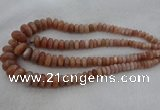 CRB1111 15.5 inches 5*8mm - 9*18mm rondelle moonstone beads