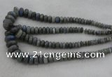 CRB1114 15.5 inches 5*8mm - 9*18mm rondelle labradorite beads