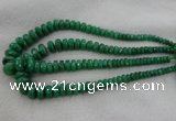 CRB1127 15.5 inches 5*8mm - 9*18mm faceted rondelle green aventurine beads