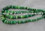 CRB1128 15.5 inches 5*8mm - 9*18mm faceted rondelle grass agate beads
