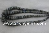 CRB1134 15.5 inches 5*8mm - 9*18mm faceted rondelle labradorite beads