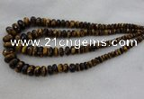 CRB1135 15.5 inches 5*8mm - 9*18mm faceted rondelle tiger eye beads