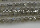 CRB1202 15.5 inches 3*4mm faceted rondelle labradorite beads