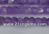 CRB1274 15.5 inches 4*6mm faceted rondelle lavender amethyst beads