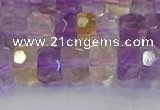 CRB1809 15.5 inches 6*10mm faceted rondelle ametrine beads