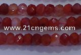 CRB1861 15.5 inches 2.5*4mm faceted rondelle south red agate beads