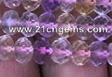 CRB1943 15.5 inches 4*6mm faceted rondelle ametrine beads