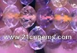 CRB1944 15.5 inches 6*8mm faceted rondelle ametrine beads