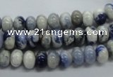 CRB22 15.5 inches 5*8mm rondelle sodalite gemstone beads