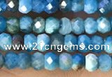 CRB2233 15.5 inches 2*3mm faceted rondelle apatite beads