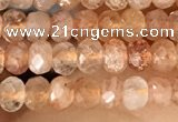 CRB2243 15.5 inches 2*3mm faceted rondelle golden sunstone beads