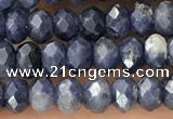 CRB2268 15.5 inches 3*4mm faceted rondelle sapphire beads