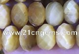 CRB2290 15.5 inches 5*8mm faceted rondelle golden tiger eye beads