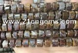 CRB2308 15.5 inches 11mm - 12mm faceted tyre pietersite beads