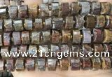 CRB2309 15.5 inches 13mm - 14mm faceted tyre pietersite gemstone beads