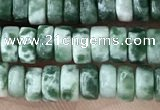 CRB2561 15.5 inches 2*4mm heishi moss agate beads wholesale