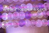 CRB2606 15.5 inches 2*3mm faceted rondelle mixed quartz beads