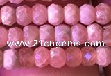 CRB2619 15.5 inches 2*3.5mm faceted rondelle rhodochrosite beads