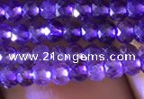 CRB2630 15.5 inches 2*3mm faceted rondelle amethyst beads