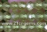 CRB2668 15.5 inches 3*4mm faceted rondelle peridot beads