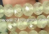CRB2671 15.5 inches 4*6mm faceted rondelle prehnite beads