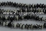 CRB28 15.5 inches 3*6mm rondelle black water jasper beads