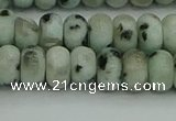 CRB2851 15.5 inches 5*8mm rondelle sesame jasper beads
