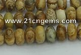CRB2855 15.5 inches 4*6mm rondelle picture jasper beads