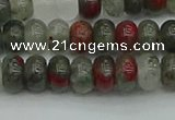 CRB2870 15.5 inches 4*6mm rondelle blood jasper beads