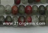 CRB2871 15.5 inches 5*8mm rondelle blood jasper beads