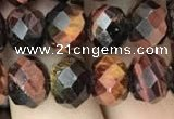 CRB3044 15.5 inches 8*10mm faceted rondelle red tiger eye beads