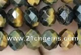 CRB3047 15.5 inches 6*8mm faceted rondelle mixed tiger eye beads