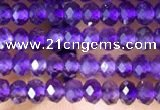 CRB3103 15.5 inches 2*3mm faceted rondelle tiny amethyst beads
