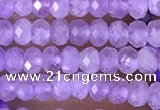 CRB3104 15.5 inches 2*3mm faceted rondelle tiny lavender amethyst beads