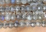 CRB3121 15.5 inches 2*3mm faceted rondelle tiny labradorite beads
