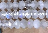 CRB3141 15.5 inches 2.5*4mm faceted rondelle tiny white moonstone beads