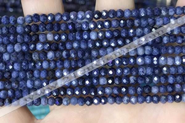 CRB3162 15.5 inches 2.5*4mm faceted rondelle tiny sapphire beads