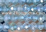 CRB3173 15.5 inches 2.5*4mm faceted rondelle tiny apatite beads