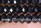 CRB3180 15.5 inches 2.5*4mm faceted rondelle tiny black spinel beads