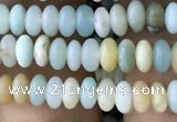 CRB4004 15.5 inches 2.5*4.5mm rondelle amazonite beads wholesale