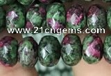 CRB4119 15.5 inches 5*8mm faceted rondelle imitation ruby zoisite beads