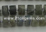 CRB483 15.5 inches 6*10mm tyre labradorite gemstone beads