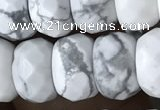 CRB5150 15.5 inches 5*8mm faceted rondelle white howlite beads